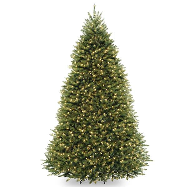 Dunhill Fir Christmas Tree with Clear Lights - 9-ft - Green
