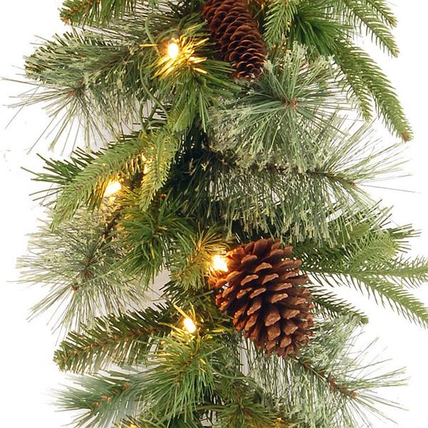 National Tree Co. Colonial Garland with Clear Lights - 9' - Green
