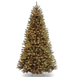 North Valley® Spruce Christmas Tree with Clear Lights - 7-ft - Green