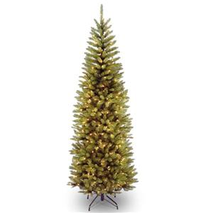 Kingswood® Fir Pencil Christmas Tree with Clear Lights - 7-ft - Green