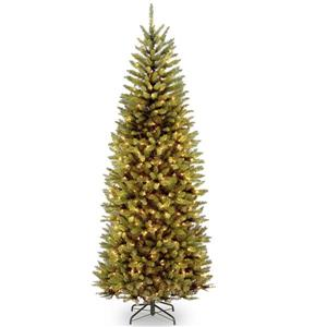 PowerConnect Kingswood® Fir Slim Christmas Tree with LED Lights - 7.5-ft