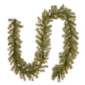 National Tree Co. Norwood Fir Garland with Clear Lights - 9' - Green