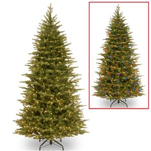 National Tree Co. Nordic Spruce® Slim Tree with LED Lights - 7.5-ft - Green