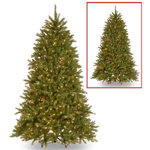 PowerConnect Dunhill® Fir Christmas Tree with LED Lights - 6.5-ft