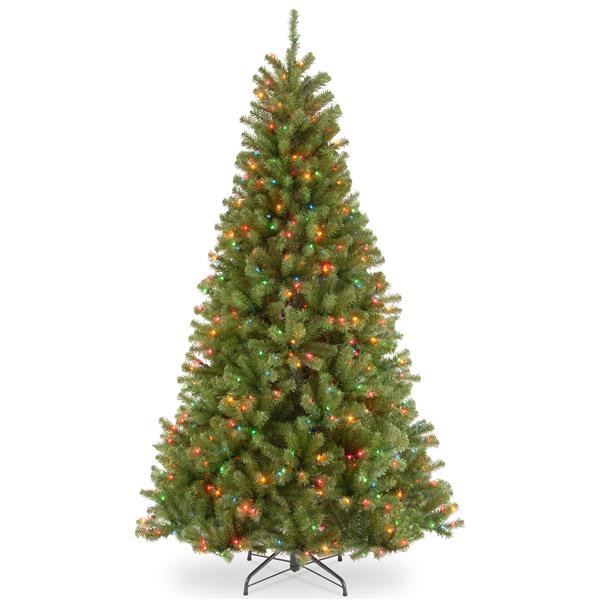 North Valley® Spruce Christmas Tree with Multicoloured Lights - 7-ft