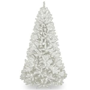 National Tree Co. North Valley® Spruce Tree with Clear Lights - 7-ft - White