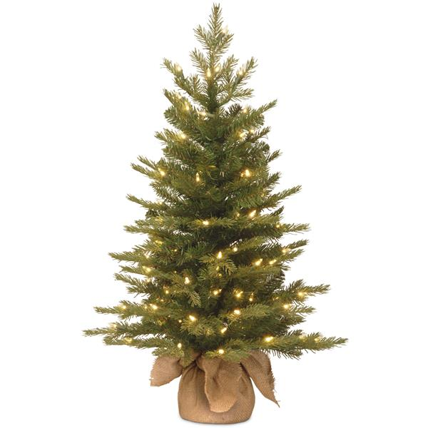 National Tree Co. Nordic Spruce Christmas Tree with Clear Lights - 3-ft - Green