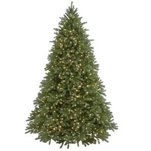 Jersey Fraser Fir Christmas Tree with Clear Lights - 7.5-ft - Green