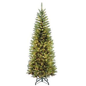 Kingswood® Fir Pencil Christmas Tree with Clear Lights - 6-ft - Green