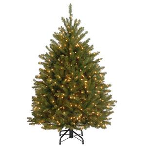 National Tree Co. 4.5 ft. Dunhill Fir Christmas Tree with Clear Lights