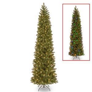 National Tree Co. Downswept Douglas Pencil Fir Tree with LED Lights - 9-ft