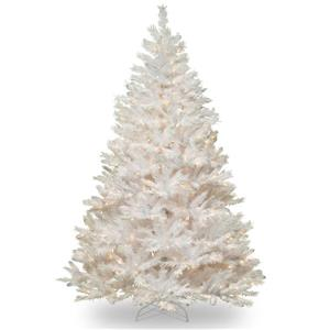 Winchester Pine Christmas Tree with Clear Lights - 7-ft - White