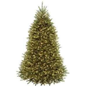 PowerConnect Dunhill® Fir Christmas Tree with LED Lights - 7.5-ft