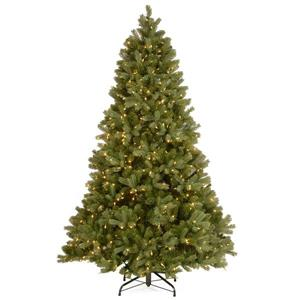 National Tree Co. Downswept Douglas Fir Tree with Clear Lights - 7.5-ft - Green