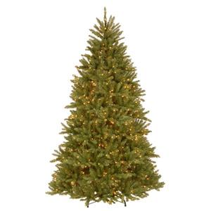 PowerConnect Dunhill® Fir Christmas Tree with Clear Lights - 7.5-ft