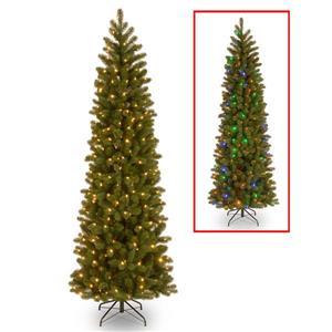 Sapin de Noël avec branches tombantes et lumières à DEL, 6,5 pi