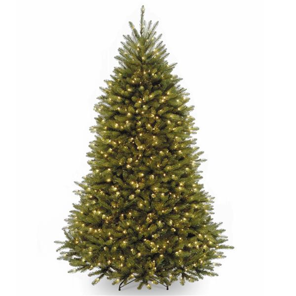 National Tree Co. Dunhill Fir Christmas Tree with Clear Lights - 7.5 ft.