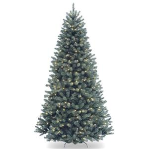 North Valley® Spruce Christmas Tree with Clear Lights - 6.5-ft - Blue