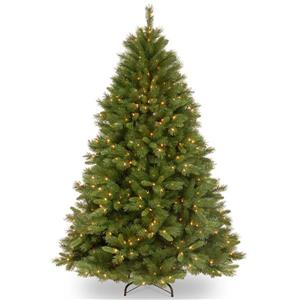 National Tree Co. Winchester Pine Christmas Tree with Clear Lights - 7.5-ft