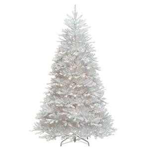Dunhill® Fir Christmas Tree with Clear Lights - 7.5-ft - White