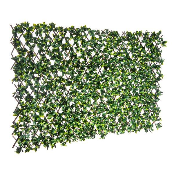 Treillis de saule extensible avec feuillage artficiel de Naturae Décor,  40 po x 80 po