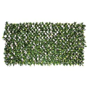 Naturae Decor Expandable Willow Trellis with Artificial Foliage - 40-in x 80-in