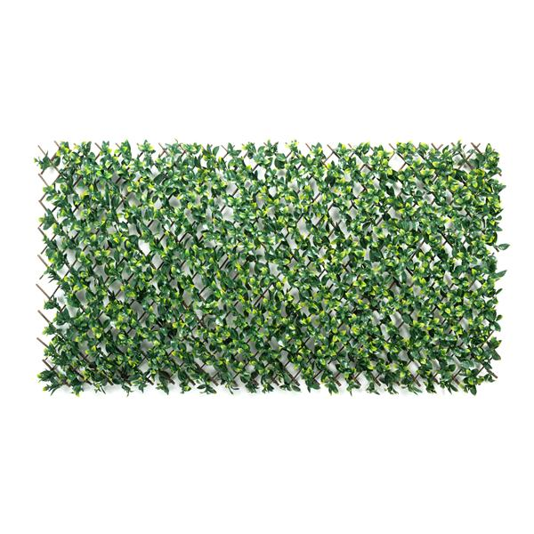 Naturae Decor Expandable Willow Trellis with Artificial Bay Leaves - 40-in x 80-in