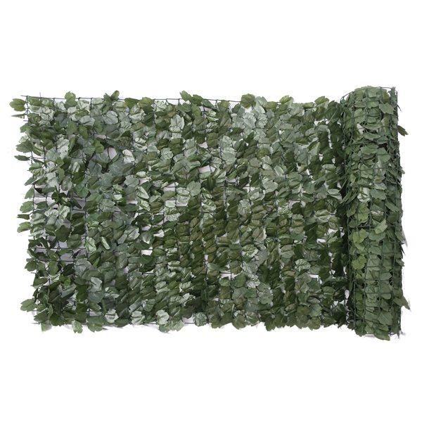 Écran d'intimité Naturae Décor, feuilles de lierre, 40 po x 96 po, vert