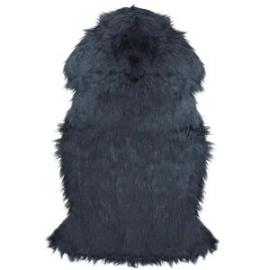 Northlight Furry Chic Faux Fur Area Rug - 2-ft x 3-ft - Stone Blue