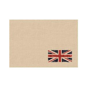 Northlight Union Jack Table Placemats - Set of 4 - Natural Beige