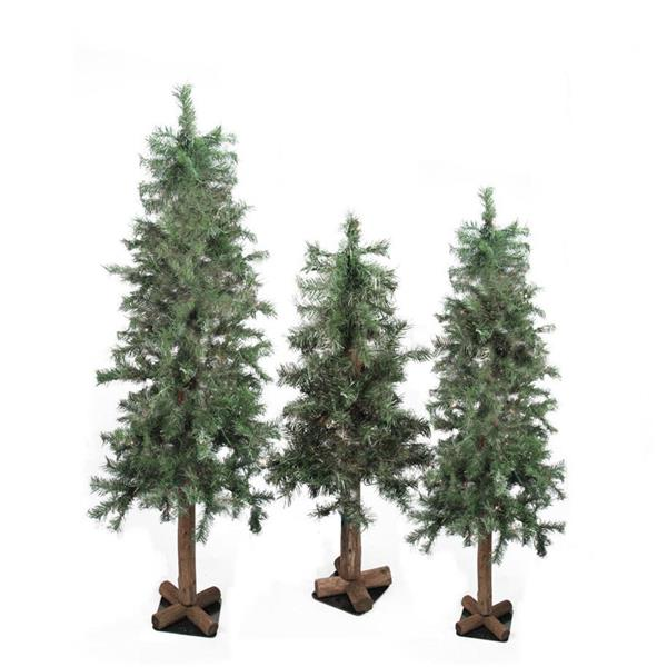Northlight Alpine Artificial Christmas Trees  - Set of 3 - Green