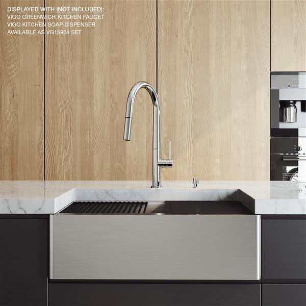 "en-CA 30"" Oxford Flat Stainless Steel Single Bowl Sink"