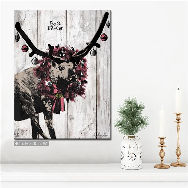 Ready2HangArt Wall Art Christmas Dancer Canvas 30-in x 40-in - Brown