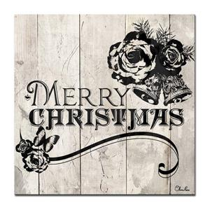 Ready2HangArt Wall Art Shabby Chic Christmas Canvas 20-in x 20-in - Brown