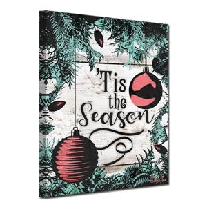 Ready2HangArt Wall Art Tis the Season-in Canvas 12-in x 16-in - Brown