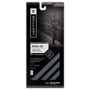 Spacio Innovations Inc. Reflective Strips Iron-On Black - 12 Strips