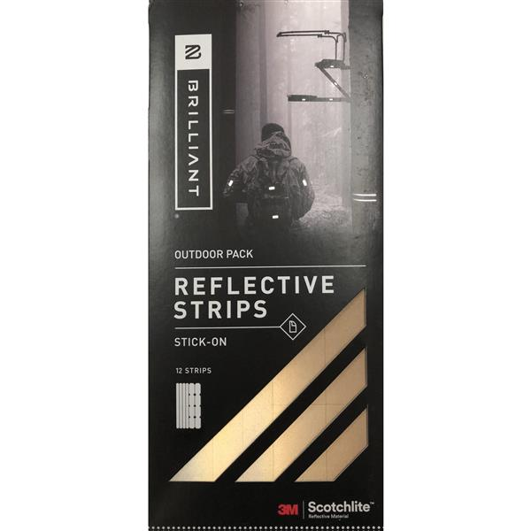 Spacio Innovations Inc. Reflective Strips Stick-On - Gold - 12 Strips - Outdoor