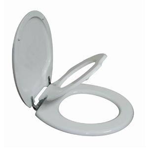 Siège de toilette rond ferme délicatement pour enfants et adultes