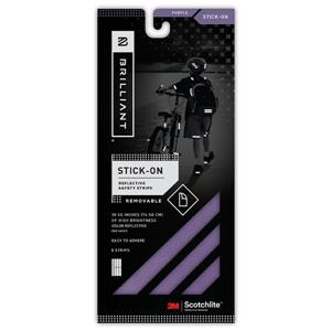Spacio Innovations Inc. Reflective Strips Stick-On - Purple - 8 Strips