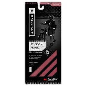 Spacio Innovations Inc. Reflective Strips Stick-On - Red - 8 Strips