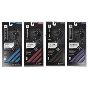 Bandes réfléchissantes Spacio Innovations Inc. autocollantes bleu, rouge, mauve et noir, 4 pq de 8