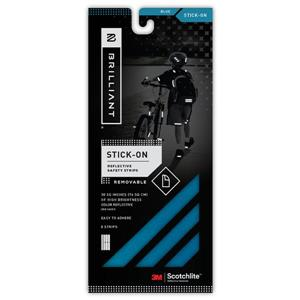 Spacio Innovations Inc. Reflective Strips Stick-On - Blue - 8 Strips
