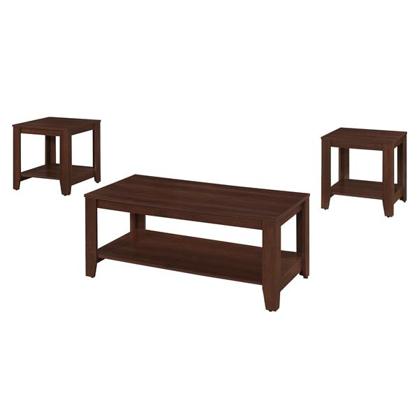 Monarch Rectangular Table set for living room - Cherry - 3-Piece