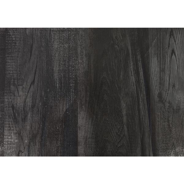Bureau de travail en coin Monarch, imitation de bois noir, 42 po