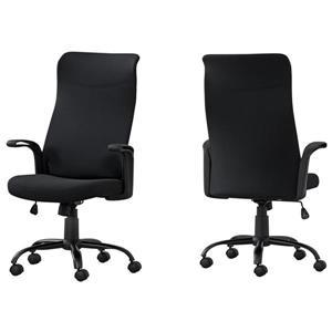 Chaise de bureau Monarch multi-position, tissu noir