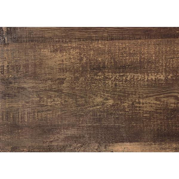 Bureau de travail en coin Monarch, imitation de bois brun, 48 po