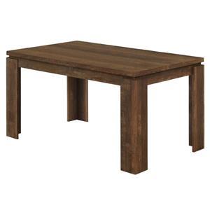 Table de salle à manger Monarch, imitation bois brune, 36 po X 60 po