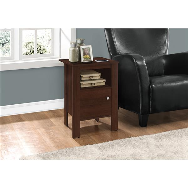 Monarch Accent or Night Table with storage - Cherry - 18-in x 17,25-in