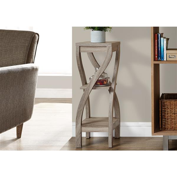 Monarch Dark Taupe Accent Table - 32-in
