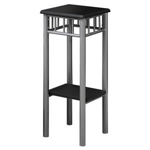 Monarch Accent Table - Black and Silver Metal - 28-in